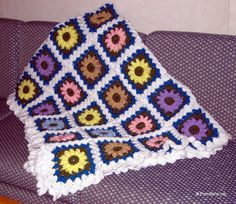 From Lois' Hands: Another Flower Garden Afghan - Crochet