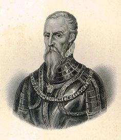 """Antique Portrait - """"DUKE OF ALBA"""" - Engraving - c1830"""