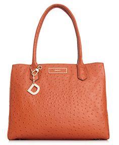 DKNY Handbag, Ostrich Leather Large Work Shopper - Shoulder Bags - Handbags & Accessories - Macy's