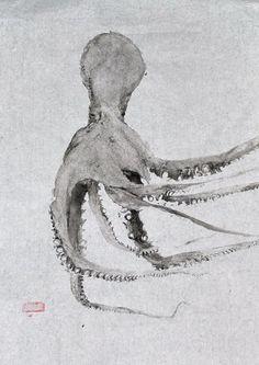 pulpo gyotaku