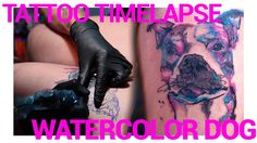 WATERCOLOR DOG TATTOO TIMELAPSE