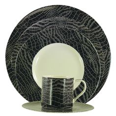 Vista Sabi Black 5 pc Place Setting