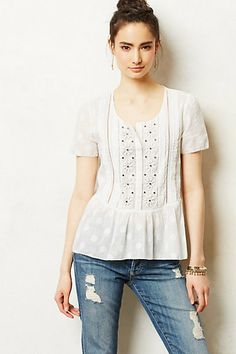 embroidered blouse with polka dots!