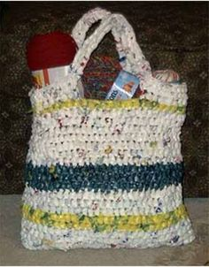 So many stores send you out the doors with your latest goods in plastic bags. Often, you have too many bags to be of any practical use, but you don't know what to do with them. Crochet enthusiasts have come up with a great solution to the surplus...