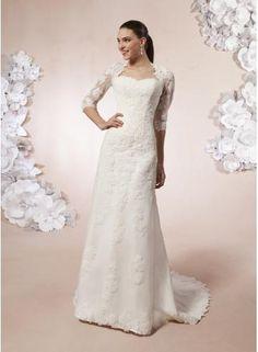 Nadměrné velikosti Krajka Přírodní Svatební šaty 2012