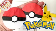 Easy Pokeball Bookmark - Pokemon Go Origami - Paper Crafts - Collab with...