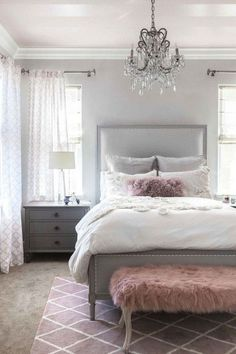 Pink and grey bedroom decor pink grey bedroom pink grey bedroom photo 1 of best pink . pink and grey bedroom decor Pink Gray Bedroom, Light Gray Bedroom, Grey Bedroom Design, Gray Bedroom Walls, Grey Bedroom Decor, Pink Bedrooms, Small Room Design, Small Room Bedroom, Bedroom Furniture Sets