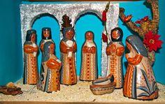 Mexican nativity scene Aztec Empire, Mexican Hacienda, Nativity Sets, Reyes, Astrology, Folk Art, Native American, Weird, Scene