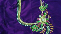 Green and purple work