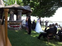 the long awaited moment has come as the bridal couple exchanges their vows at the