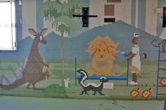 Mural from Edgewater hospital (closed due to medicare fraud). Great flickr account of photos from buildings.