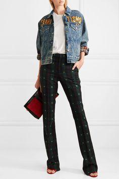 Gucci   Oversized embellished appliquéd denim jacket   NET-A-PORTER.COM