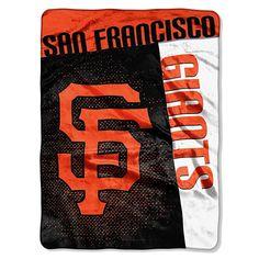 "The Northwest Company, LLC Officially Licensed MLB 60"" x 80"" Raschel Throw by Northwest - San Francisco Giants"