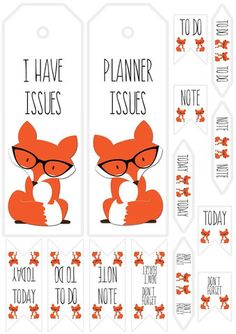 Planner Fox Free Print & Cut File from Paper Issues {store checkout required}