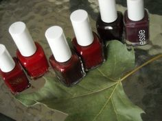 5 beautiful Oxblood nail polishes--reiht on trend! Click thru for pics and swatches!