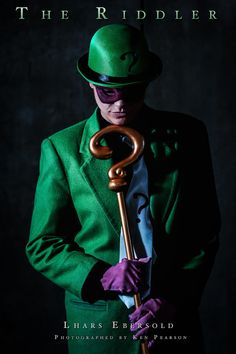 Character: Riddler (Edward Nigma) / From: DC Comics 'Batman' & 'Detective Comics' / Cosplayer: Lhars Ebersold / Photo: Ken Pearson