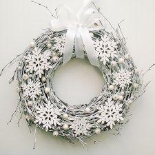 Wianek Świąteczny Płatki Śniegu