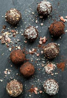 Chocolate Almond Butter Bites {Gluten Free, Raw, Vegan} Ingredients  For Bites: 1 cup of raw almonds 1 very ripe banana 1 date, pitted & mashed 1 tablespoon of cacao powder 1/2 cup + 1 tbsp almond butter a pinch of salt 1/2 tbsp sugar 1/4 cup shredded coconut for coating outside 2 tbsp cacao powder for coating outside  For Cacao Crunch: 1/4 cup of almonds 1/4 cup of cacao nibs a pinch or two himalayan pink sea salt a pinch or two of cayenne (optional)  Directions  Place 1 cup of almonds…