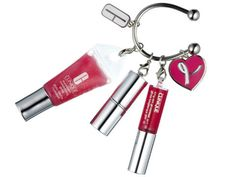 KEY RING, $16. Speak out with this pout-enhancing trio from Clinique. Available at Macy's.