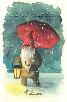 ❧ Illustrations Noël et hiver ❧ by Liz Hess