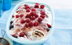 Berry tiramisu recipe - Better Homes and Gardens - Cookbook Recipes, Fruit Recipes, Sweet Recipes, Baking Recipes, Dessert Recipes, Dessert Ideas, Yummy Recipes, Just Desserts, Delicious Desserts