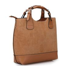 4798d7466f15 New British style plain retro suede leather tote bags