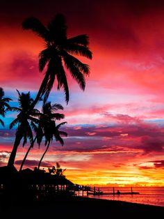 Sunset at Plantation Island
