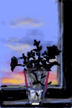 Check out 'Untitled, an iPhone drawing completed by David Hockney in David Hockney Ipad, David Hockney Art, David Hockney Paintings, Gravure Illustration, Illustration Art, Encaustic Painting, Painting & Drawing, Iphone Drawing, Pop Art Movement
