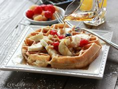 Coconut Belgian Waffles For You with LivLife #HungerStrike Day 1