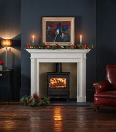 Wood Burning Stove Fireplace Fire Surround Log Burner 59+ Ideas #wood