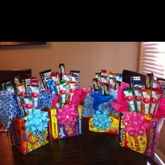 Candy Bouquets All Supplies Are From The Dollar Tree