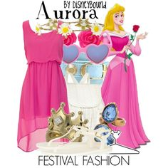 Aurora by leslieakay on Polyvore featuring Hunter, River Island, Disney Couture, Balenciaga, Oscar de la Renta, With Love From CA and Disney
