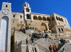 Convent of Our Lady, Greek Orthodox Church in Sednaya, Syria. One of the Most Deep-Rooted Archeological Cities in Syria