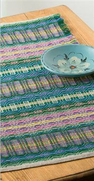 Telemarksteppe in Spring Colors - project instructions available as a free download. #weaving