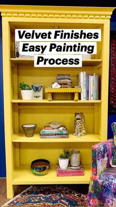 Furniture Update, Furniture Projects, Furniture Makeover, Cool Furniture, Furniture Design, Diy Projects, Bright Painted Furniture, Painting Furniture, Bookcase Makeover