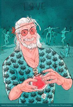 Hippie Geralt by mstrychowska on DeviantArt