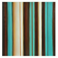 "Abstract canvas print with aquamarine and brown stripes.   Product: Canvas printConstruction Material: Wood and canvasDimensions: 40"" H x 40"" W x 2"" DCleaning and Care: Wipe clean with a dry cloth"