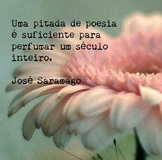 """""""Una pizca de poesía es suficiente para perfumar un siglo entero."""" José Saramago"""