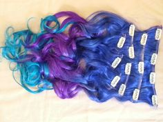 """Pastel clip in hair extensions. 18"""" for $154.99"""