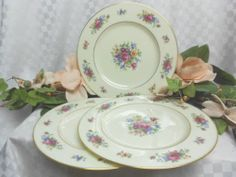 Lenox China Dinnerware Lenox Rose pattern # J300 Set 3 dinner plates
