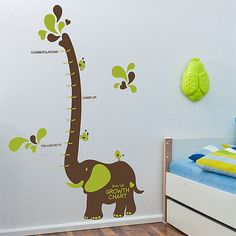 Wall Point Decor Sticker for Kid : Elephant Growth Chart, Unique, Cute