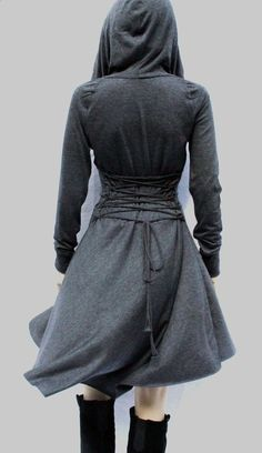 Dress , Hoodies dress, Grey Dress, Casual , Day Dress ,Low High Dress,Women Dress on Etsy, $99.00