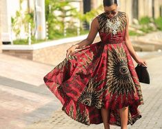ankara mode This beautiful African print garment is suitable for different occasions. I will carefully sew it for you with high quality fabric prints and make you look as beautiful as the African Maxi Dresses, African Wedding Dress, Latest African Fashion Dresses, African Dresses For Women, Ankara Dress, African Print Fashion, African Attire, African Fashion Ankara, Fashion Clothes