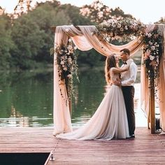 Beautiful Wedding Photography | Dock Wedding Inspiration | Beautiful Outdoor Wedding Ceremony Backdrop