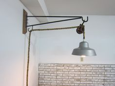 Wall Mount Pulley Light by raderdm on Etsy