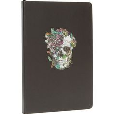 Black Floral Skull Journal 21.5x14cm Floral Skull, Tk Maxx, Filofax, 21st, Christmas Gifts, Stationery, You're Dead, Flowers, Journalling