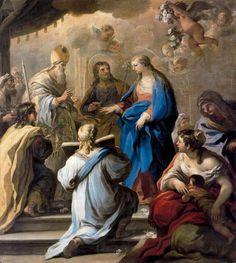 il 'matrimonio della vergine' di Luca Giordano (1634-1705, Italy)