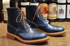 Tricker's – Herman in Parisian Blue Cavalier