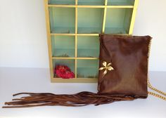 Leather Coachella Fringe Crossbody Bag Purse Festival Fashion by TinaFrantzDesigns on Etsy