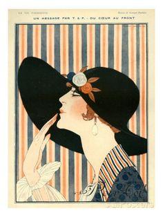 la vie parisienne   La Vie Parisienne, G Barbier, 1918, France Lámina